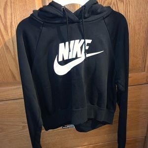 Black Nike cropped sweatshirt